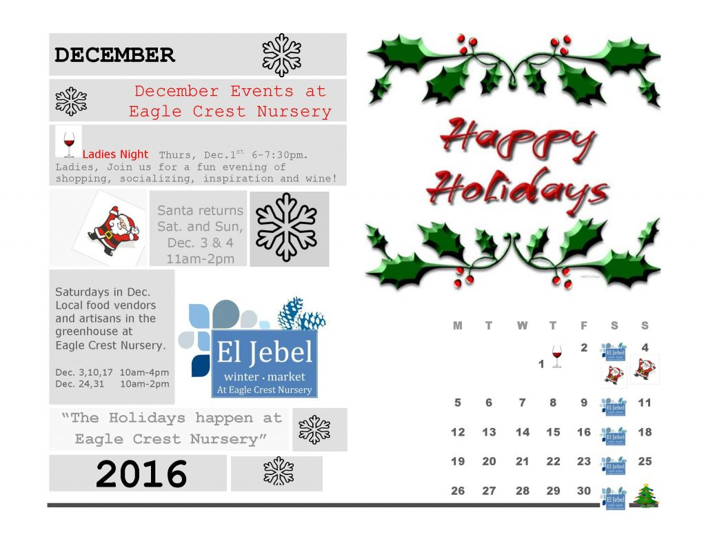 Holiday Events December 2016