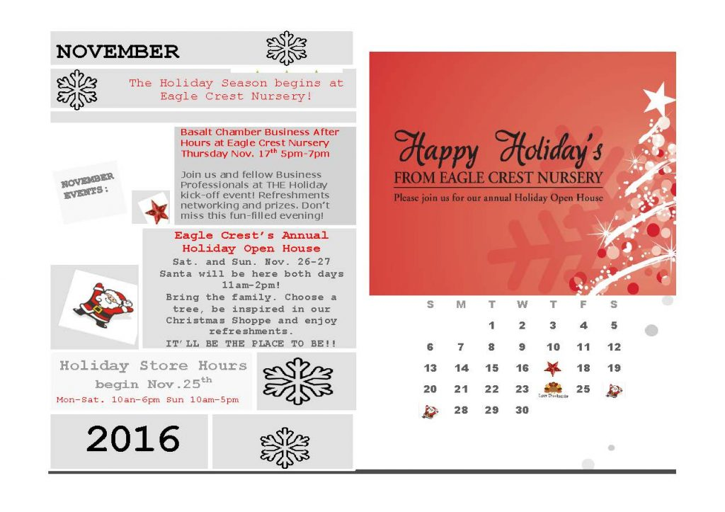 Holiday kick-off events November 2016