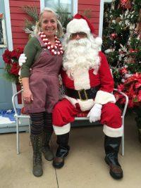Santa and Margi the elf