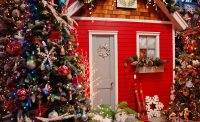 Red House for Christmas at Eagle Crest Nursery