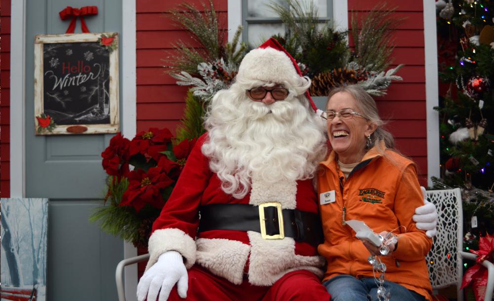 Santa for Christmas at Eagle Crest Nursery