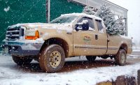 Truck for Christmas at Eagle Crest Nursery
